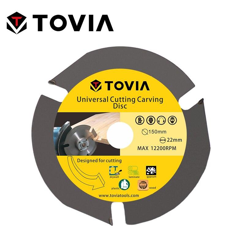 TOVIA 150mm Универсальный Пильный Диск по Дереву для УШМ 6inch 22.22mm по Газобетону Гипсокартону Пластику лезвия лезвие алмазный диск пилы для распил...