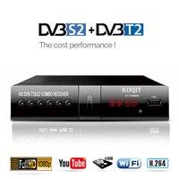 DVB T2 DVB S2 Free Digital TV Box Internet Satellite Receiver finder KOQIT Combo IPTV m3u Playback DVB T2 Receptor Wifi Youtube