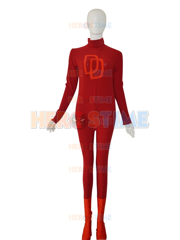 2016 Adult Superhero Daredevil Cosplay Costume Adult Men's Halloween Carnival Cosplay Costume Lycra Spandex Zentai Bodysuit