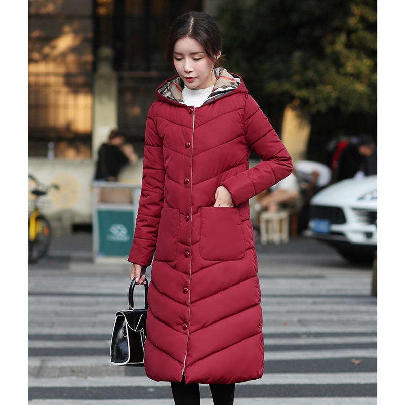 2018 NEW HOT WOMEN WINTER CLOTHES JACKER MID-LENGTH HOODED THICK WARM FEMALE PARKAS COTTON WADDED SLIM COAT HIGH QUALITY ZL573