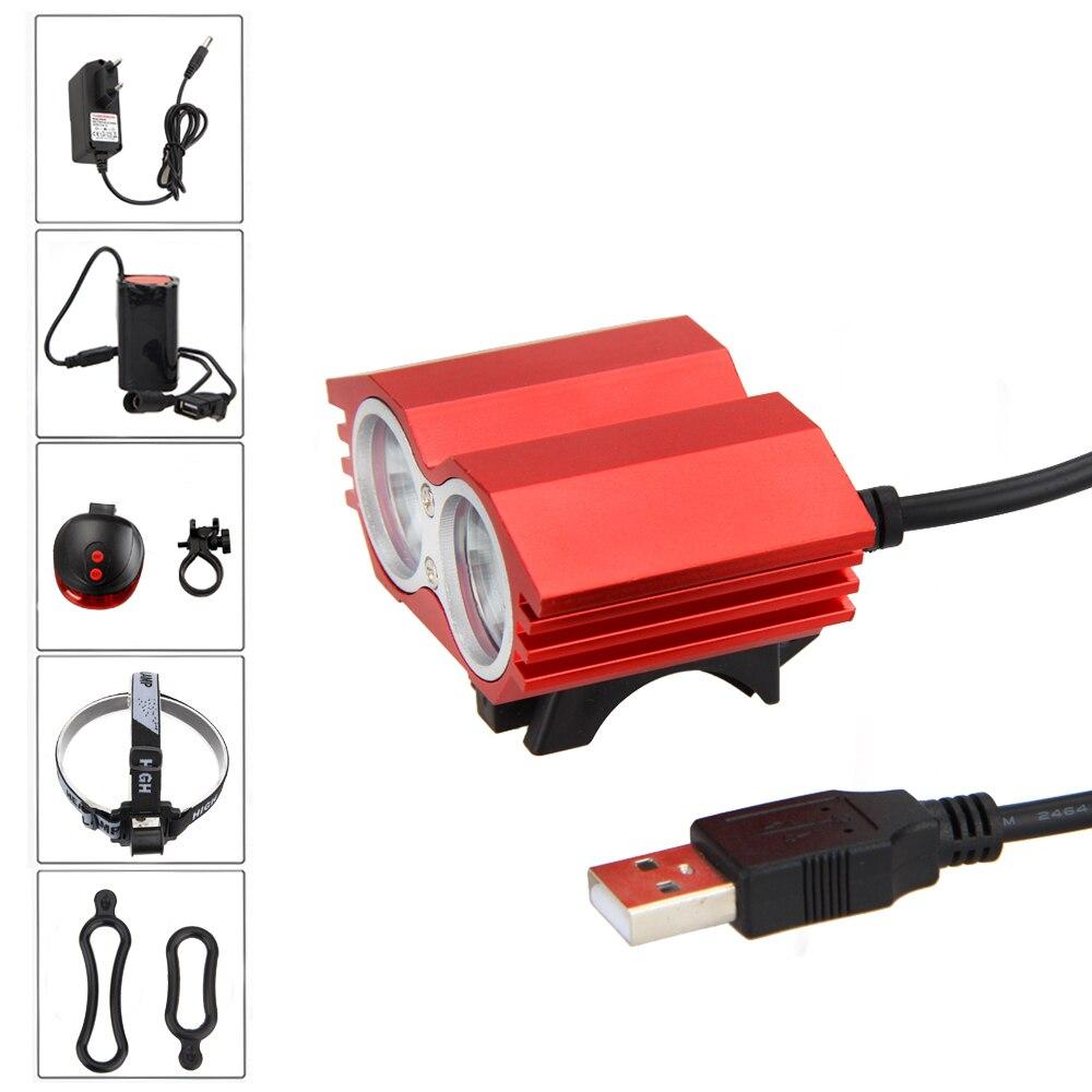 5000lm 2x XML T6 LED USB Brightness Front Bicycle Light Bike Lamp Headlamp + Back Rear Bike Light sitemap 2 xml