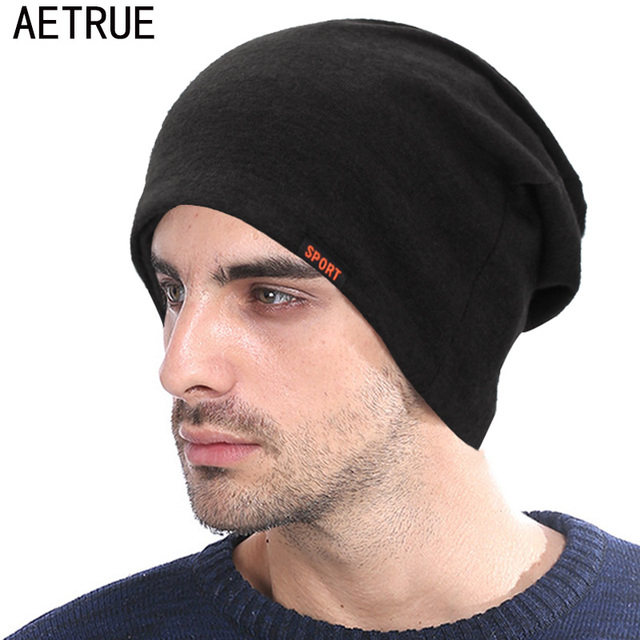 AETRUE Skullies Beanies Scarf Men Knitted Hat Women Winter Hats For Men  Bonnet Solid Male Mask Balaclava Ring Caps Beanie Hat 0c2409b04e6c