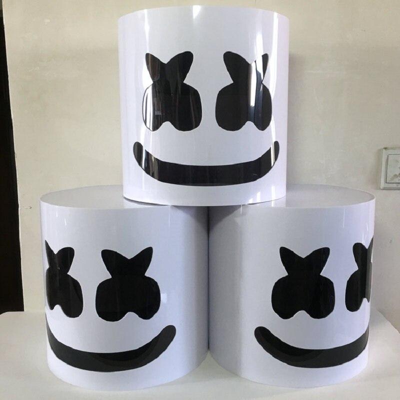 Chaud sans LED Marshmello casque DJ Marshmello PVC masque accessoires de Concert Future basse Marshmello musique Fans Bars Halloween Prop
