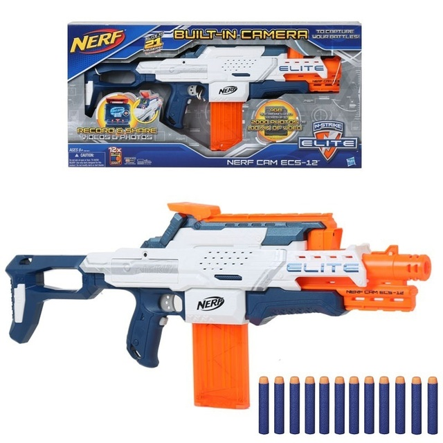 Licensed High Qulity Nerf N-Strike ELITE MEGA Built-in Camera 4GB Cam Ecs