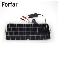 Waterproof Mini Portable 18V 5.5W Smart Solar Power Panel Battery Bank Charger with USB Cable Solar Charger for Automobile Motor