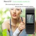 Hesvit s3 inteligente bluetooth banda sport fitness pulsera podómetro del ritmo cardíaco monitor de sueño recordatorio de datos pulsera para ios android
