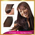 Yotchoi 7A grado cutícula llena remy de la virgen del pelo 4 # color marrón 3 unids/lote bruto malasia virgen extensiones de cabello humano