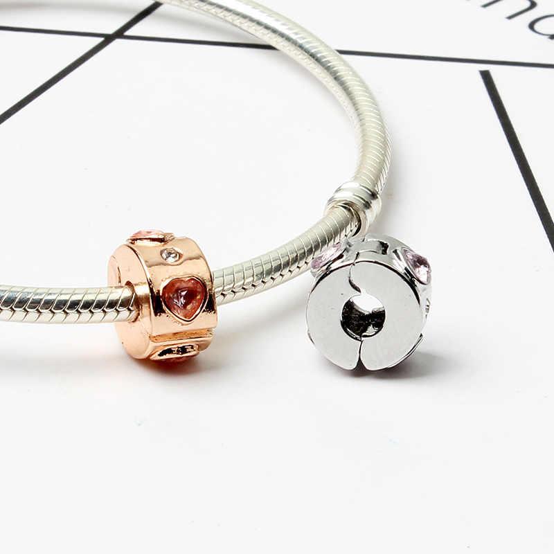 2018 nowy 1 pc rose rainbow miłość kompas miłość spacer klip diy koralik pasuje pandora charms 925 oryginalna bransoletka mix091