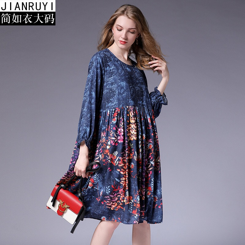 2018 Summer Autumn Dress Elegant Chiffon Maternity Dress Loose Pregnant Clothes Print Floral Ruffles Plus Size XL-5XL 2018 casual boho short sleeve maxi dress square neck floral printed ruffles dress loose flare sleeve a line ruffles dresses