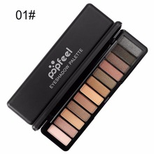лучшая цена POPFEEL 12 colors Eye shadow Palette Matte + Shimmer Cosmetics Highly Pigmented Professional Makeup Must-have new