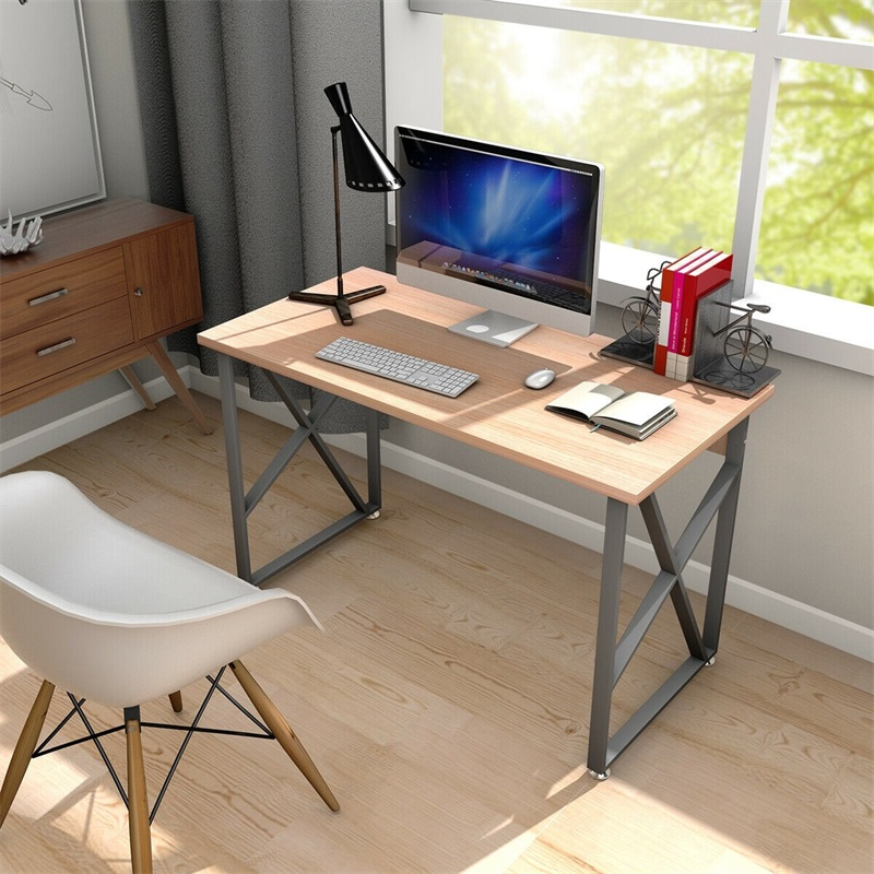 Wooden PC Laptop Table With Metal Legs Computer Desks HW53817