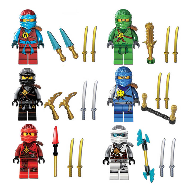 Lepin Pogo Bela Action Figures Ninjago Thunder Swordsman e Building Blocks Bricks Compatible Legoe Toys
