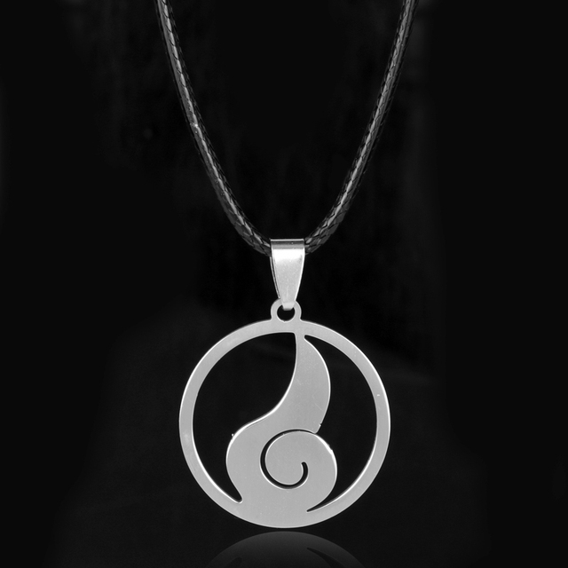 Wholesale hot japanese anime naruto hyuga clan symbol stainless wholesale hot japanese anime naruto hyuga clan symbol stainless steel pendant necklace cosplay mens fashion jewelry mozeypictures Images