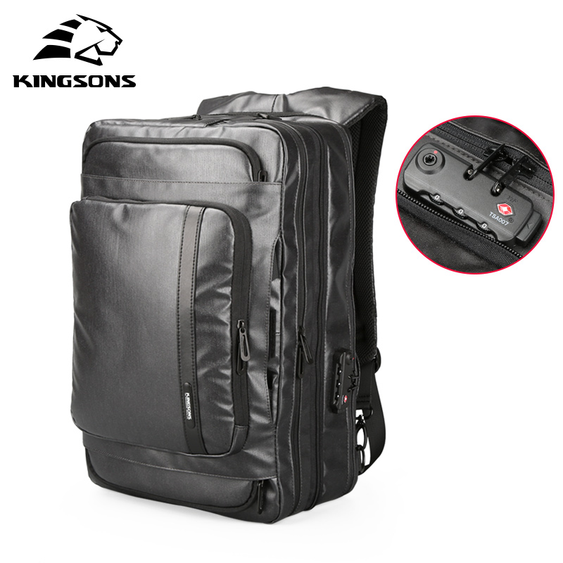Kingsons Anti-theft Men Backpack Large Capacity Multifunctional Travel Bags Waterproof Laptop Backpack 15.6 inch for Male