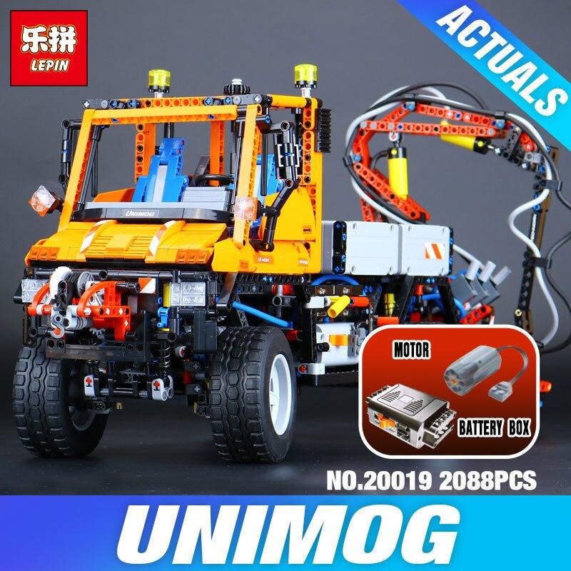 LEPIN 20019 2088 pièces Technique 8110 Camion Unimog U400 Modèle blocs de construction Drôle Briques bricolage Jouets pour Enfants comme Enfants D'anniversaire cadeaux
