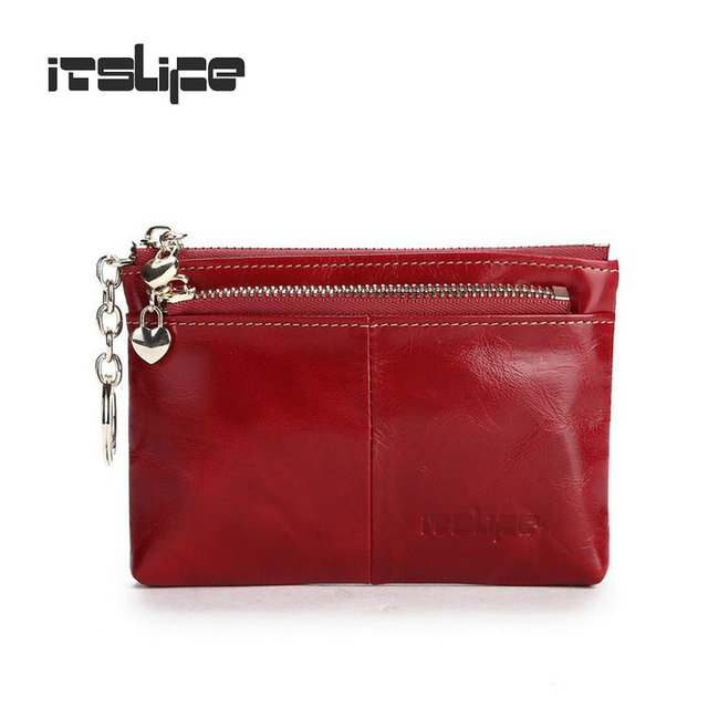 New Mini bag leather coin purse header layer cowhide key wallet oil wax leather money holder change wallet