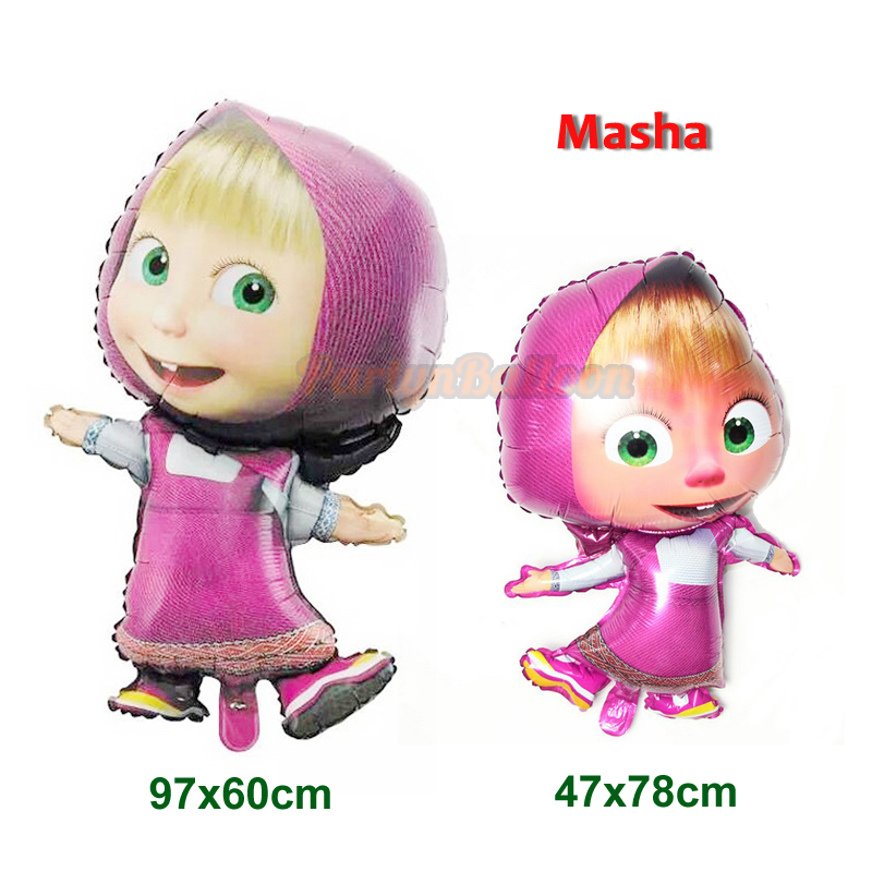 1PC x 36'' Foil Balloon Masha and the Bear Balloon Birthday Party Decoration Chi
