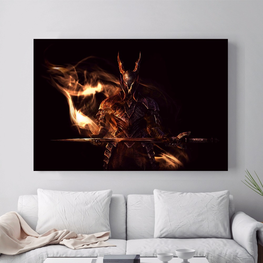 Dark Souls Game Artwork Canvas Art Print Painting Poster Wall Pictures For  Home Decoration Bedroom Decor No Frame Silk Fabric 1