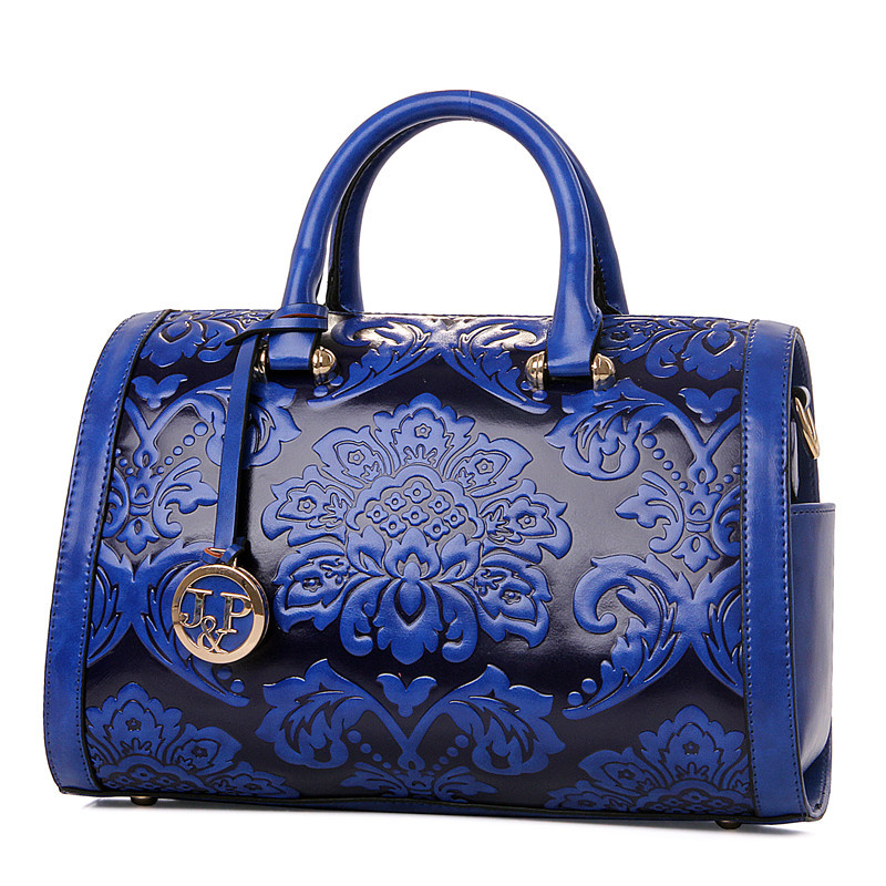 2017 women bag Fashion vintage Floral Embossed Handbags Famous designers brand Shoulder Bags