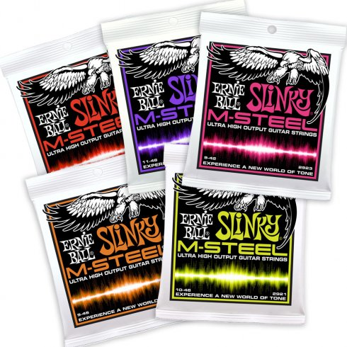 Ernie Ball M-Steel Ultra High Output Electric Guitar Strings 2922 2921 2920 2923