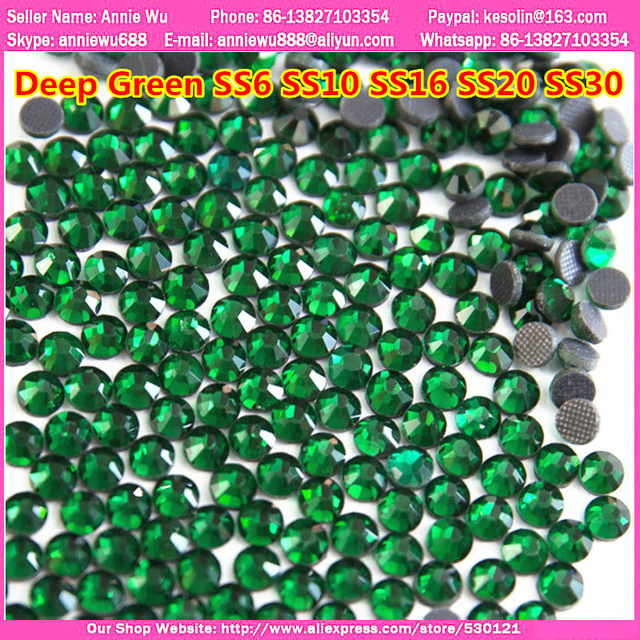 1440Pcs pack Mixed Sizes Deep Green ss20 Flatback Crystals DMC Hotfix  Rhinestones Hot Fix Stones 9d6402de667a