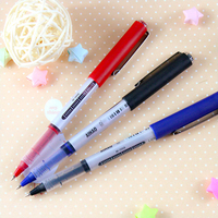 12 Pcs Lot Classic Roller TIp Pen Wholesale 3 Color Gel Pens Liquid Ink Office Accessories