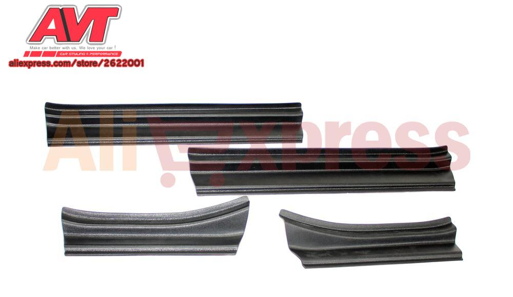 Door sills for Lada Vesta 2015- 1 set / 4 pcs ABS plastic embossed door protection against scratches car accessories car styling