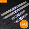 for LED Stainless Steel Door Sill Scuff Plate For KIA optima 2011 2012 2013 car accessories car-styling for