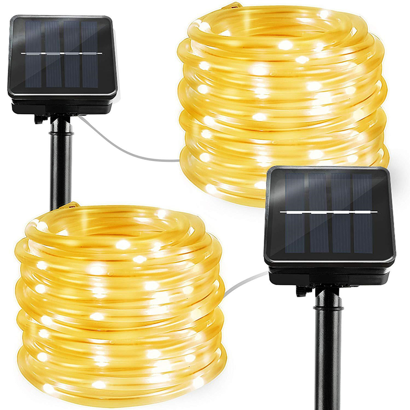 Image 2 - LED Rope Lighting RGB LED String Light Waterproof Color Changing with Remote Power Supply Usb Solar Tree Lights Patio Christmas-in LED String from Lights & Lighting