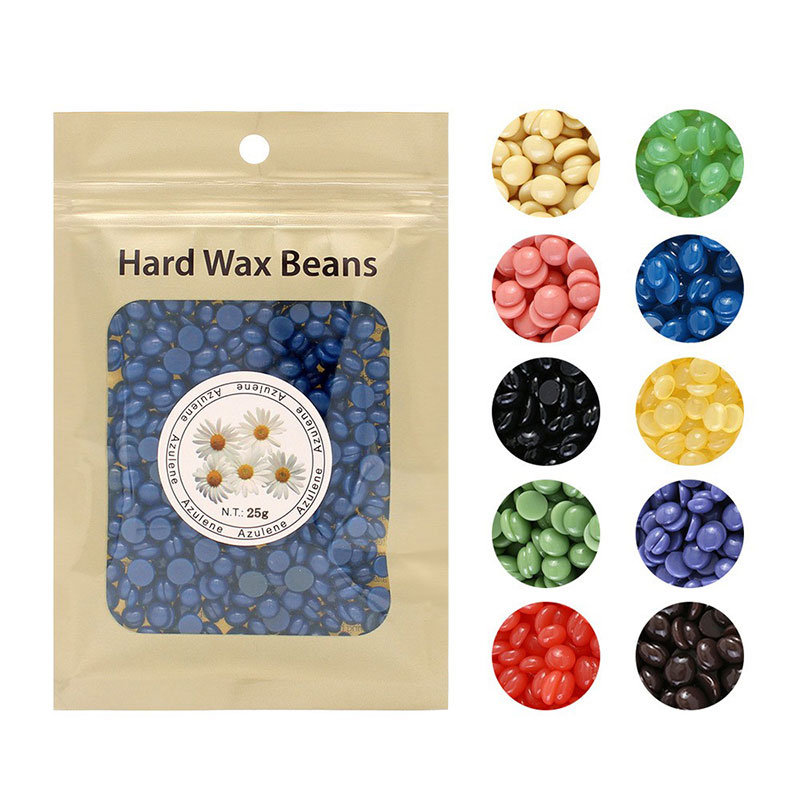 25g Warmer Wax Heater Beans No Strip Depilatory Hot Film Hard Wax Pellet Waxing Bikini Face Hair Removal Bean Hair Removal Tool