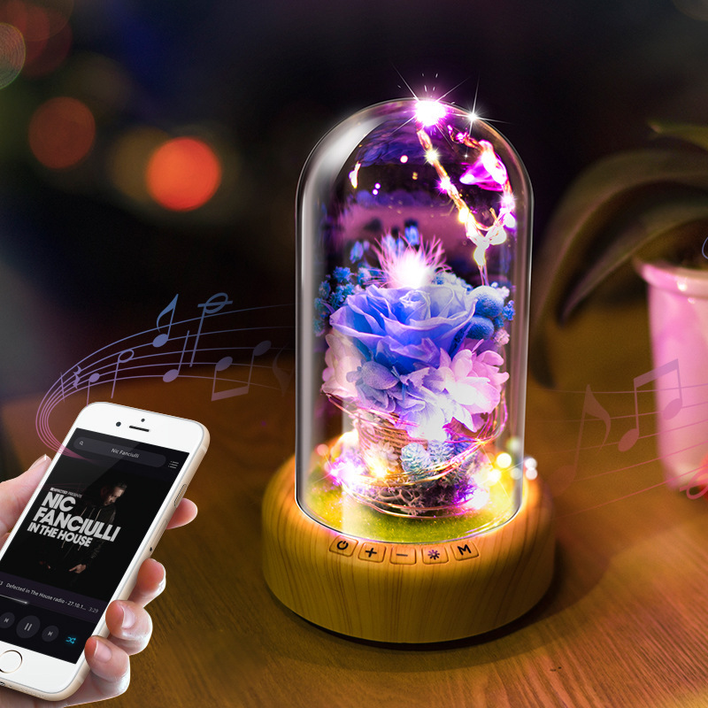 APP Creative Bluetooth audio led night lights, Bluetooth audio lights, birthday party Novelty lights