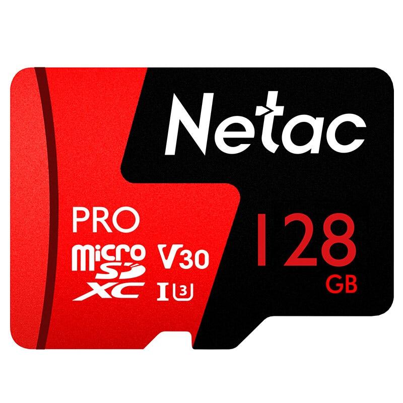Netac Microsd 128 gb P500 Pro Klasse 10 speicher Karte microSDXC V30 U3 UHS-I Großhandel 2018 Neue Flash Karte 128 gb für handy