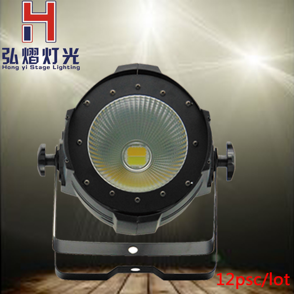12pcs/lot led 100W COB Par light dmx stage dj led par cool white and warm white lamp spot light LED Stage light show projector