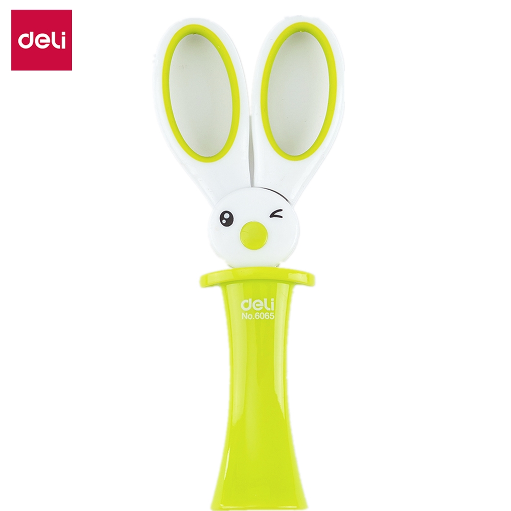 DELI School Scissors E6065 Cute Kawaii Rabbit DIY Diary Decorating Scissor Hand Craft Scissors Paper Kids & Student Stationery