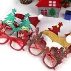 600pcs Decorazioni Di Natale Per Complementi Arredo Casa Nuovo Anno Occhiali Per I Bambini Natale Babbo Natale Cervi Pupazzo di Neve Di Natale Ornamenti Casuale - 3