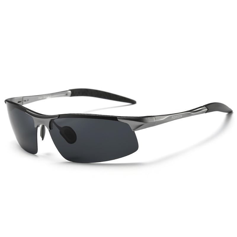 AORON Driving Polaroid Sun Glasses Aluminum Frame Sports Sunglasses Men Polarized Driver Retro UV400 Anti-glare Goggles 17