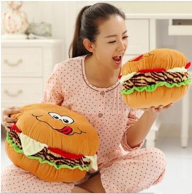 Criativa dos desenhos animados boneca de brinquedo de pelúcia boneca hambúrguer travesseiro para enviar seus filhos para um presente do Dia das crianças entrega gratuita