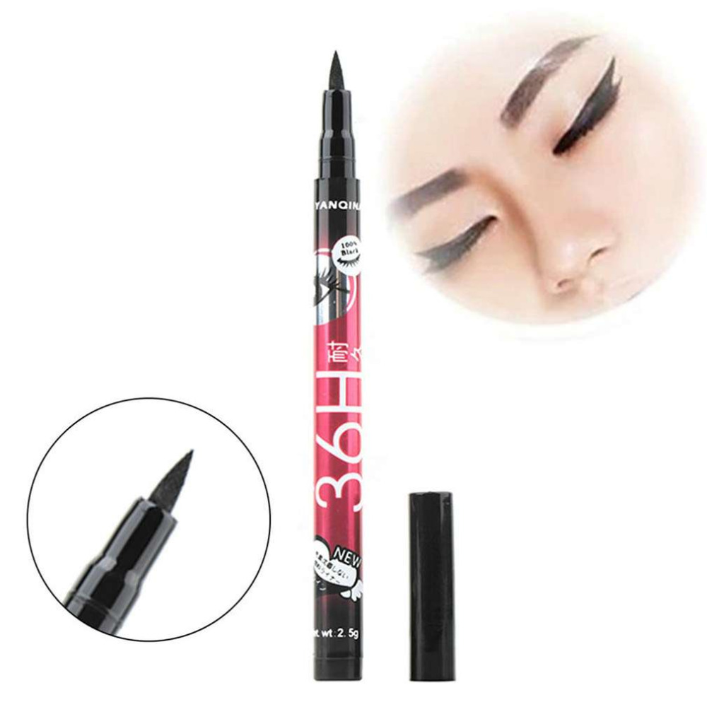1pc Women Makeup Brush Black Eyeliner Pencil Waterproof Liquid Eye Liner Pencil Pen Eye Pencil Long Lasting Beauty Cosmetic Tool