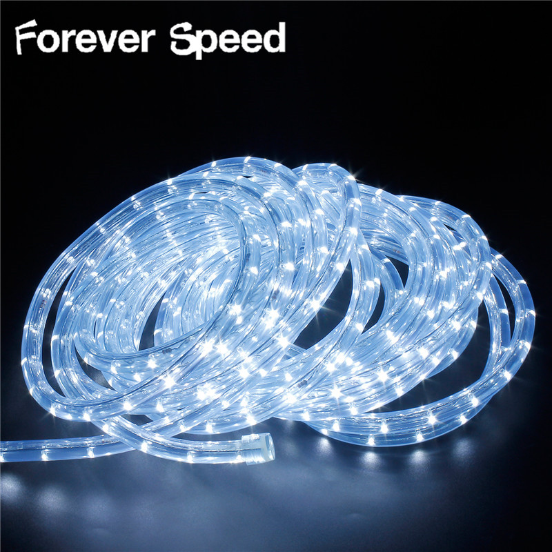 Led Strip 12M Waterproof Rainbow Tube Rope Christmas Light Outdoors Holiday Decoration Lights Ac 220V Ip65 Led Rgb Strip