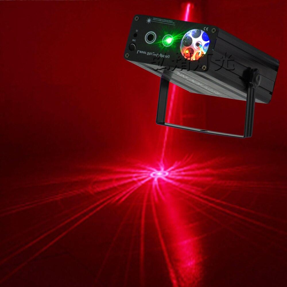 Mini LED 2in1 láser Disco etapa luz fiesta patrón iluminación proyector mostrar luces de Proyector láser fiesta de navidad