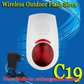 free shipping!Wireless Flash Strobe Outdoor waterproof Siren Red Light 100dB 315MHz Just For Our GSM PSTN security Alarm System