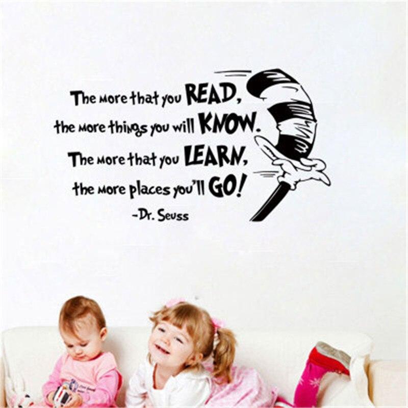 Тем более, что вы читаете вдохновляющие цитаты стены Стикеры винил Цитата Говоря на стены Домашний декор офиса детская комната настенная