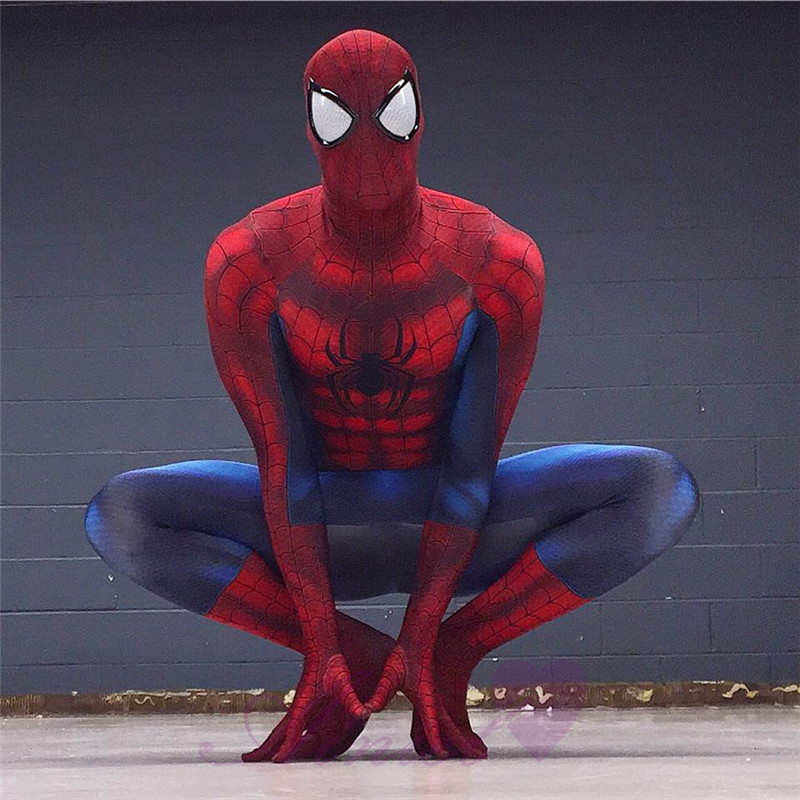 Halloween High Quality spiderman Costume 3D Printing Jumpsuit spandex zentai suit Carnival Marvel Avengers Superhero