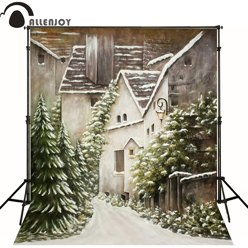 Backdrop (7ft*5ft)photo studio backdrop photography background christmas background building pine street for studio 300cm 200cm about 10ft 6 5ft fundo harp moonlight candles3d baby photography backdrop background lk 1859