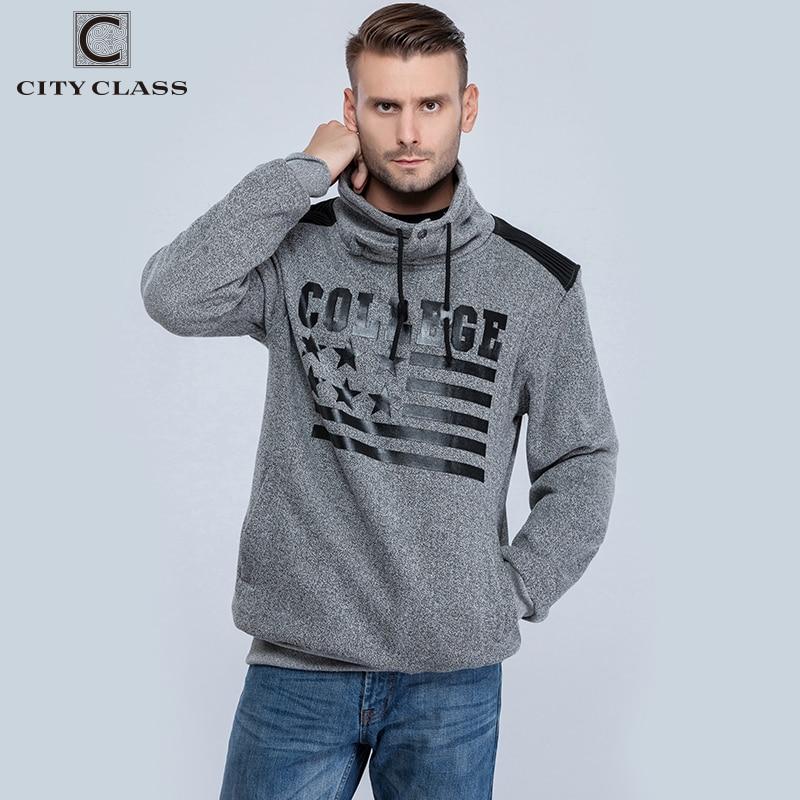 CITY CLASS Jesenske in zimske moške jopice blagovne znamke Oblačila Harajuku Hip Hop Hoodies za moško vrhnje oblačilo Visoki ovratnik 2660