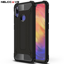 купить Luxury Rugged Dual Layer Armor Back Case For Xiaomi Redmi Note 7 7 Pro Phone Case Heavy Duty Shockproof Hard PC + TPU Full Cover онлайн