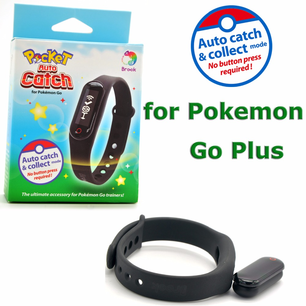 Brook Pocket Auto Catch Compatible for Pokemon Go Plus Wrist Bluetooth Bracelet WristBand AutoCatch Collect mode