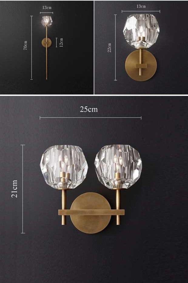 Modern Luxury de Cristal Parede Scone G9 CONDUZIU a Lâmpada de Parede para Sala de estar Quarto Luz Projeto Luz Interior Luminárias de Parede Em Casa art Decor - 2