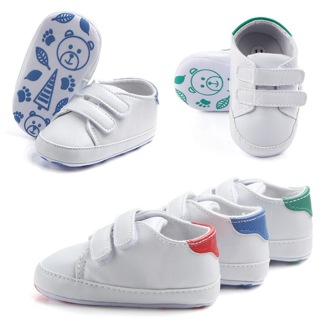 34e3ef90bc New Magic Stickers Leather Baby Shoes Rough PU First Walkers Lace-up Soft  Sole Kids Baby Boys Moccasins Shoes