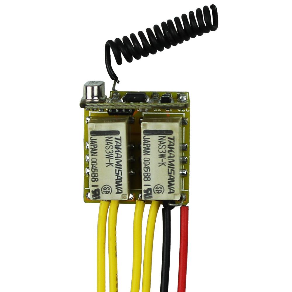 Мини 2ch реле удаленного коммутатора dc3.7v 4.2 В 5 В 6 В 7.4 В 8.4 В 9 В 12 В выход 0 В сухой контакт реле переключения значение без com NC 315/433
